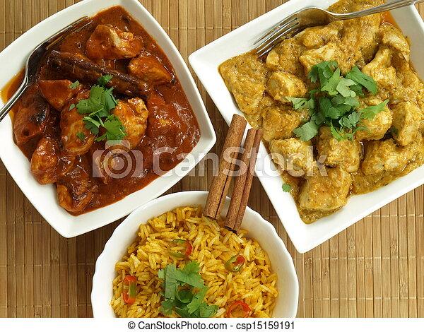 питание, индийский - csp15159191