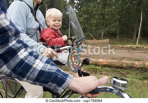 поездка, велосипед, семья - csp1769364