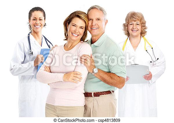 пожилой, врач, пара - csp4813809