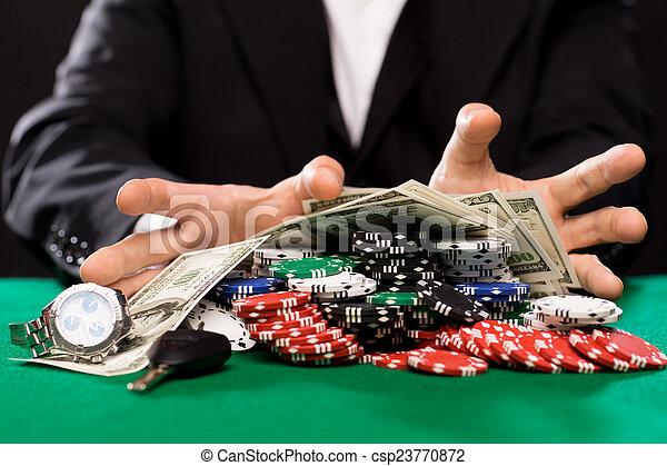 покер, деньги, казино, игрок, таблица, чипсы - csp23770872