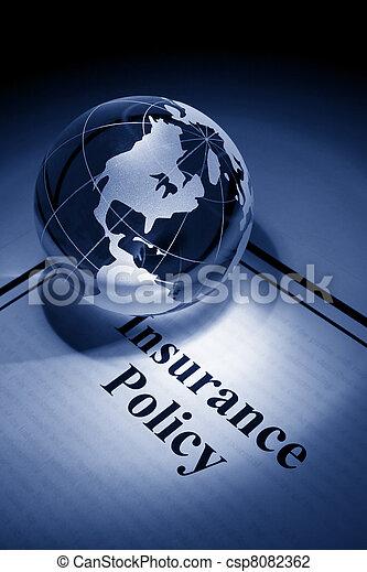 политика, земной шар, страхование - csp8082362