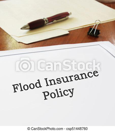 политика, наводнение, страхование - csp51448760