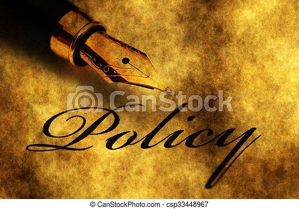 политика, ручка, фонтан - csp33448967