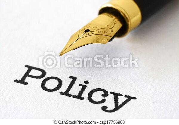политика, ручка, фонтан - csp17756900