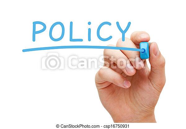 политика, синий, маркер - csp16750931