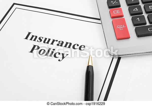политика, страхование - csp1916229