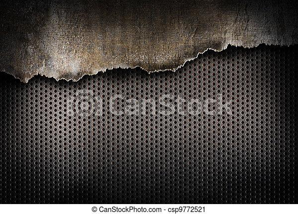 порванный, металл, задний план - csp9772521