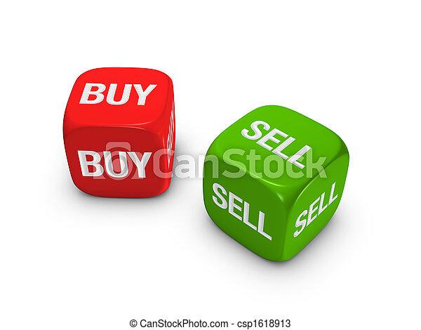 продавать, игральная кость, купить, знак, зеленый, пара, красный - csp1618913