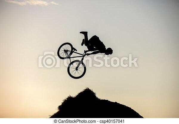 прыгать, изготовление, велосипед, наездник, экстремальный - csp40157041