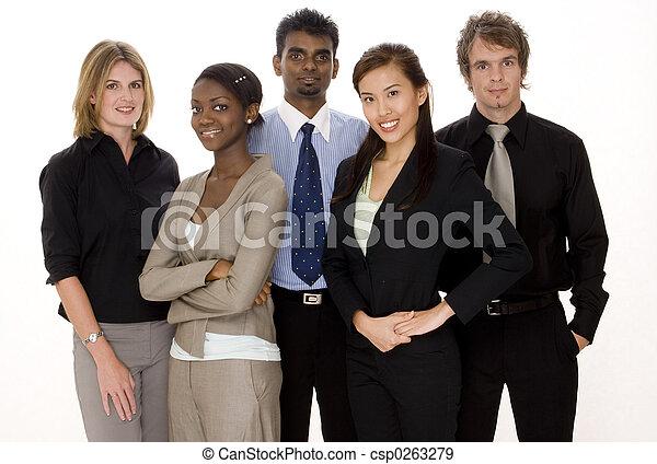 разнообразный, бизнес, команда - csp0263279