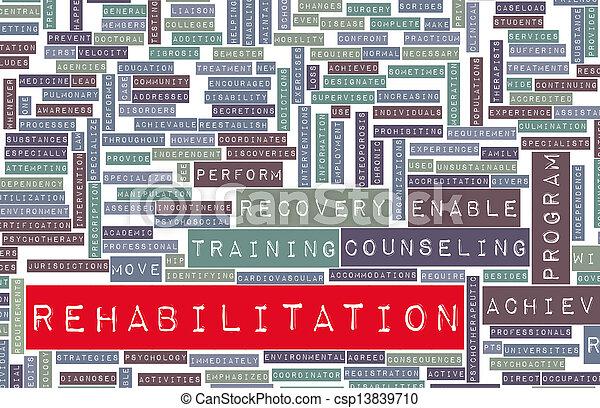 реабилитация - csp13839710