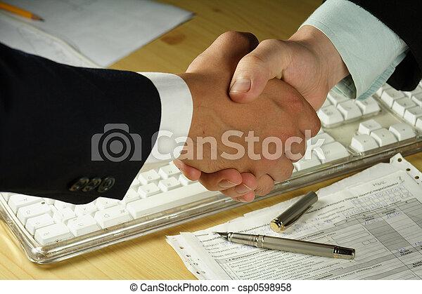 рукопожатие, бизнес - csp0598958