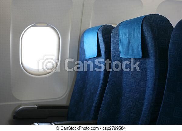самолет, окно, сиденье - csp2799584
