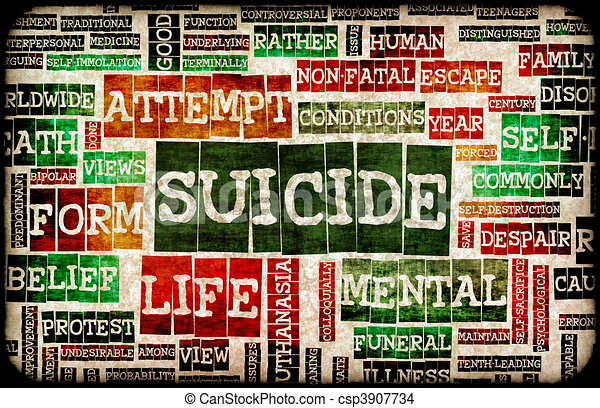 самоубийство - csp3907734