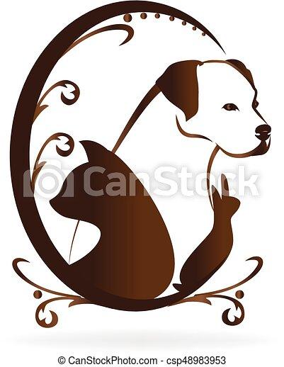 сердце, форма, люблю, pets, логотип - csp48983953