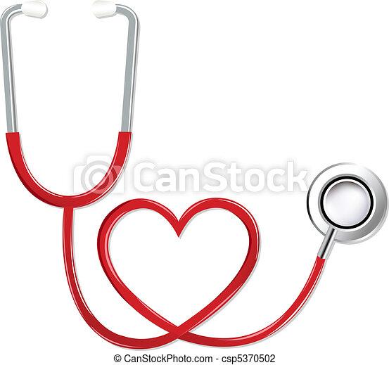 сердце, форма, стетоскоп - csp5370502