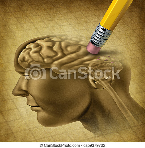 слабоумие, болезнь - csp9379702