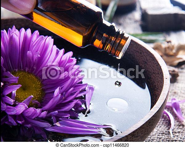 спа, oil., aromatherapy., существенный, лечение - csp11466820