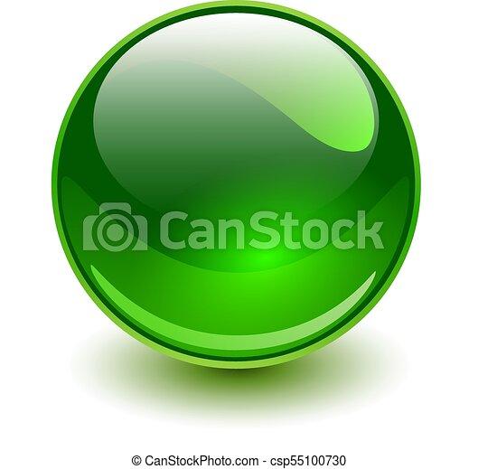 стакан, зеленый, сфера - csp55100730
