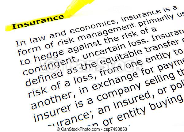 страхование - csp7433853