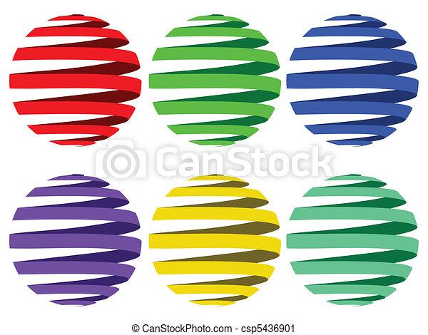 сфера, ribbons - csp5436901