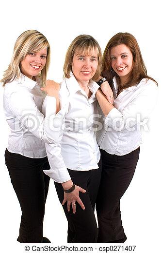 три, женщины - csp0271407
