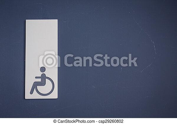 туалет, effect., ), (, инвалидная коляска, знаки, или, гандикап, обработанный, марочный, отфильтрованный, образ - csp29260802
