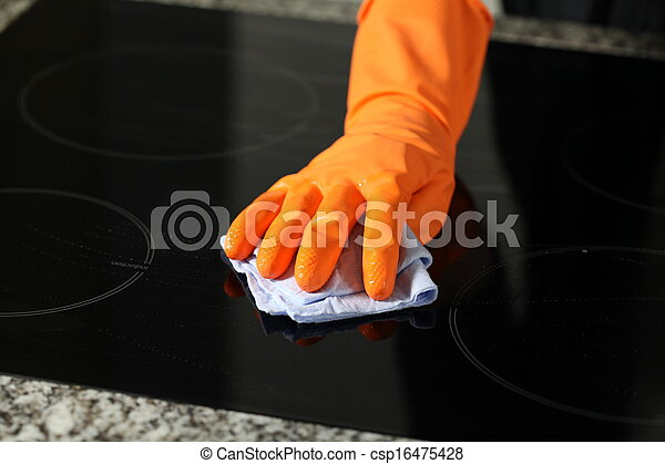 уборка, плита - csp16475428