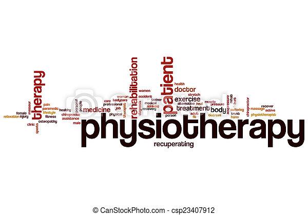 физиотерапия, слово, облако - csp23407912