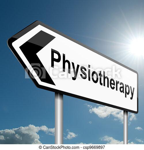 физиотерапия, concept. - csp9669897