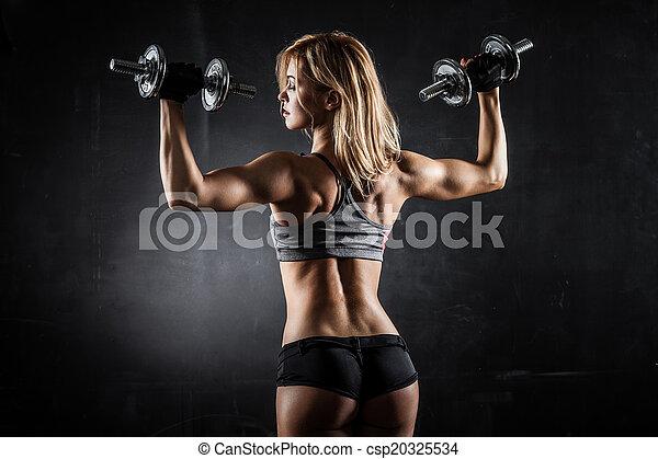 фитнес, dumbbells - csp20325534