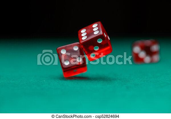 фото, falling, зеленый, игральная кость, таблица - csp52824694