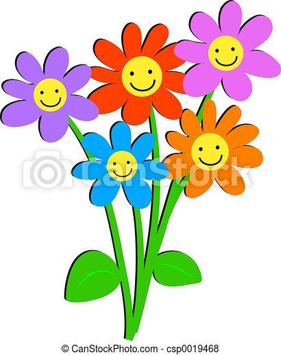 цветы, счастливый - csp0019468