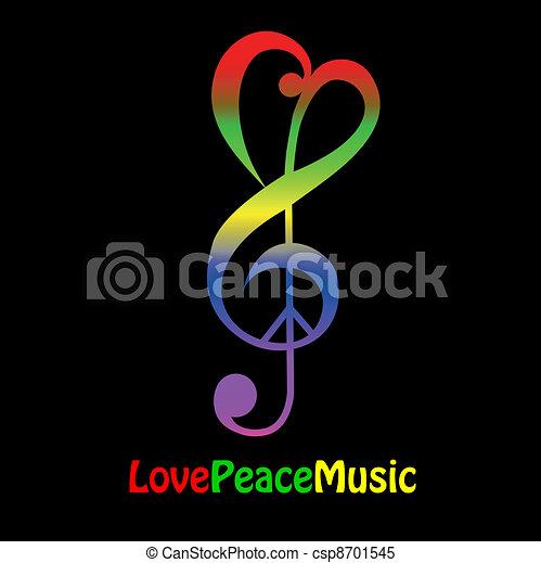אהוב, שלום, מוסיקה - csp8701545