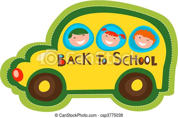 אוטובוס, בית ספר, השקע - csp3775038