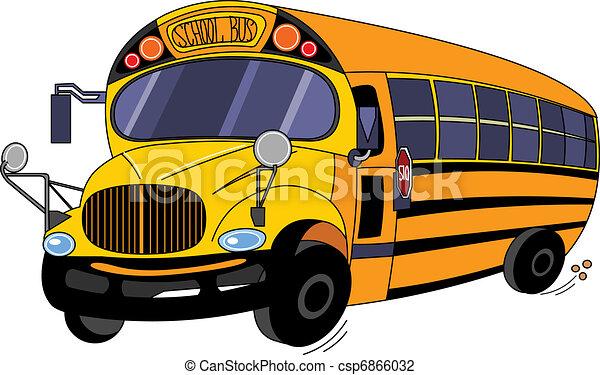 אוטובוס של בית הספר - csp6866032