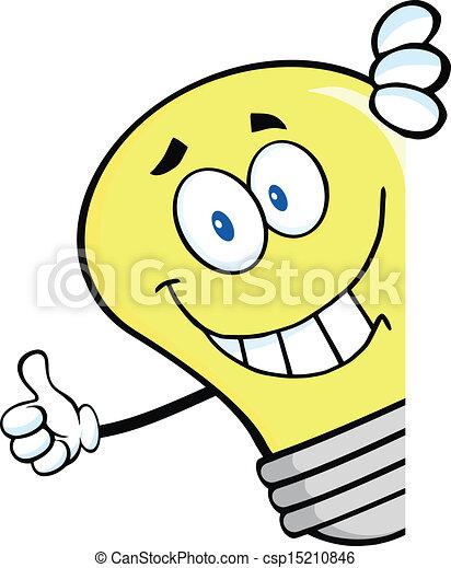 אור, אחרי, לחייך, נורת חשמל, חתום - csp15210846
