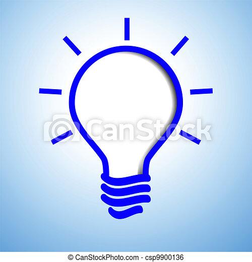 אור כחול, נורת חשמל - csp9900136