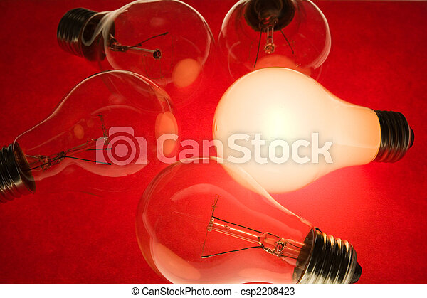 אור, מואר, נורת חשמל - csp2208423