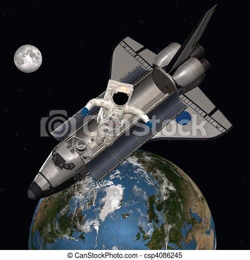 אסטרונאוט, חלל החיצון - csp4086245