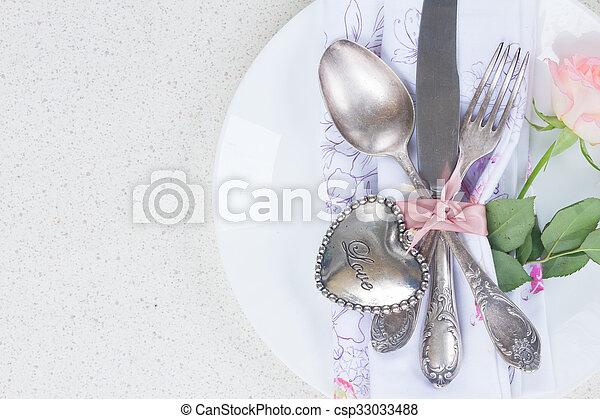 ארוחת ערב, יום של ולנטיינים - csp33033488