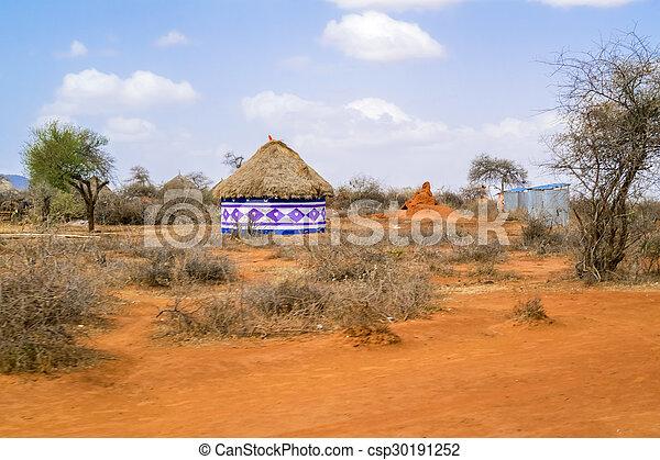 סופר אתיופיה, שטח חקלאי, נוף. דמין, פברואר, שטח חקלאי, houses., moyale VV-62