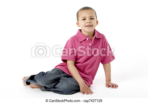 בחור, אולפן, צעיר, לשבת - csp7437129