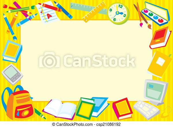 בית ספר, גבול - csp21086192