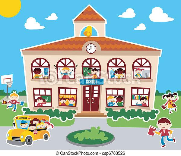 בית ספר, השקע, זמן - csp6783526