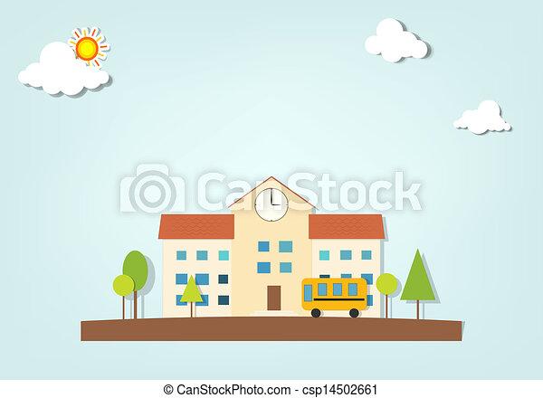 בית ספר, וקטור - csp14502661