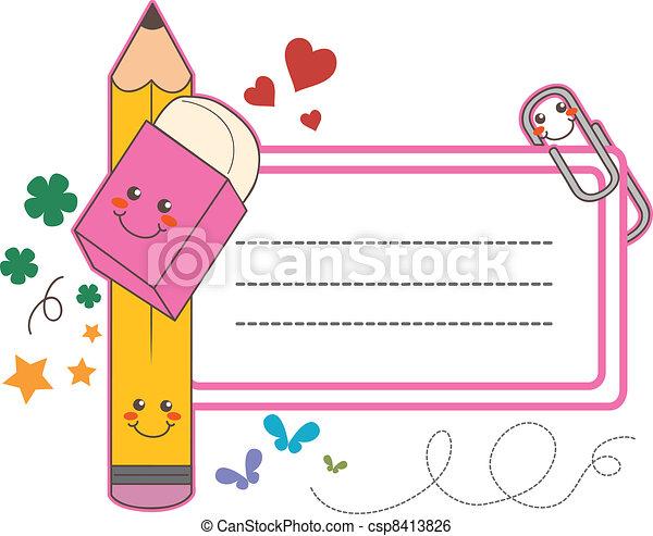 בית ספר, מדבקה, כנה - csp8413826