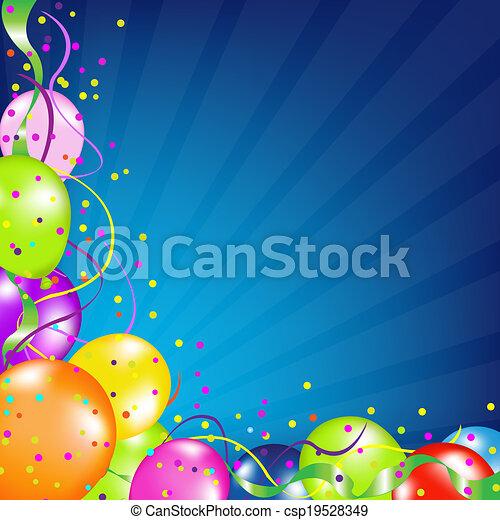 בלונים, יום הולדת, סאנבארסט, רקע - csp19528349
