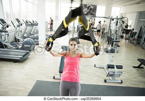 בריא, אימון, מושג, סגנון חיים, ספורט - csp35369904