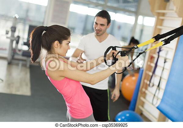 בריא, אימון, מושג, סגנון חיים, ספורט - csp35369925